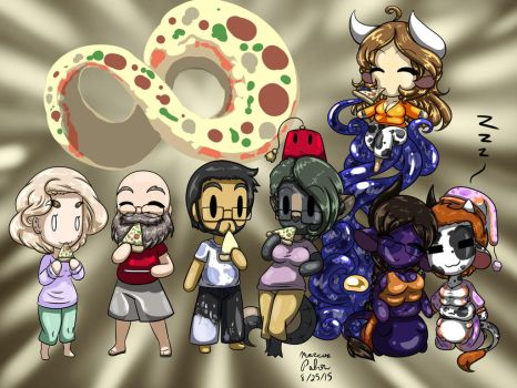 Squish Co Chibi Pizza Party Colored by Anubis2Pabon288