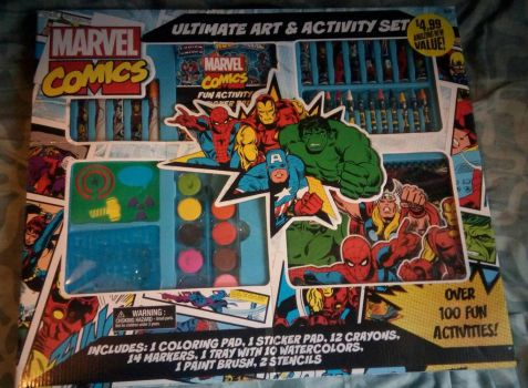 i got a new Marvel Art Set  by mariogodzilla77865