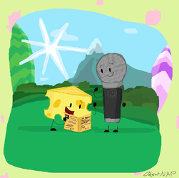 II 2 Theft and Battery - Cheesy and Microphone by ObjectNotyap1