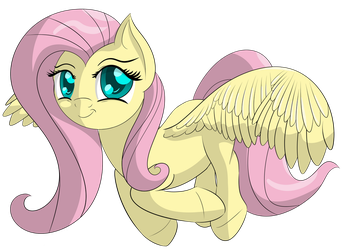 Fluttershy taking flight by DataPony