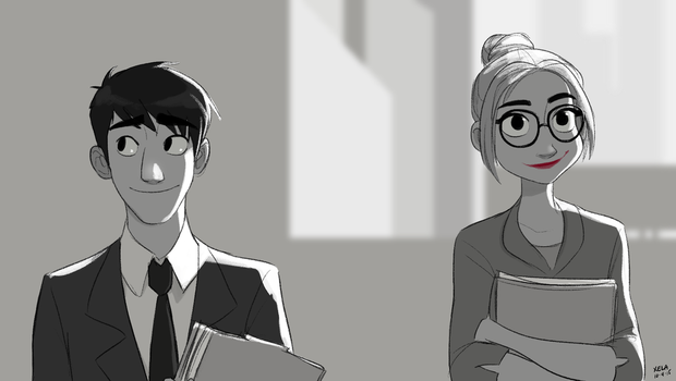 Paperman by xelartworks