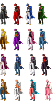 BBTag Hazama Colors by TaintedOneNinja