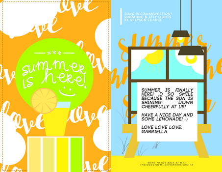 #SummerCardProject by TheEdgeOfDemi