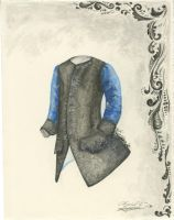 Sequined waistcoat sketch by MouseBorg