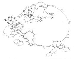 Bellybed Yoshis by DragonKick