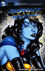 Shadow Lass bust sketch cover by gb2k
