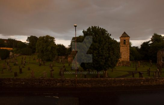 i love the light over the churchyard by Coquin