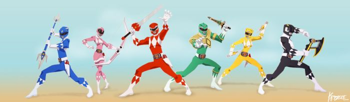 Go go Power Rangers by Kristele