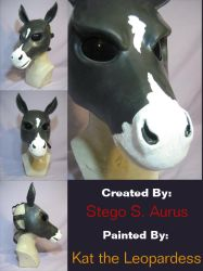 Painted Gas Mask: Painted Horse by Catwoman69y2k