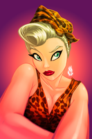 Friday Pin Up Leopard by MrTuRn