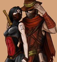 Request: Dullahan and Erron by DannieKW