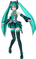 Project Diva Arcade Future Tone Fei Yen Miku by WeFede