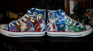 The Avengers Converse by GeeFreak
