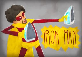 A man with irons by Andry-Shango