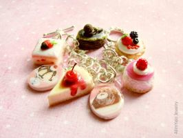 Sweet and delicious Charm bracelet by allim-lip
