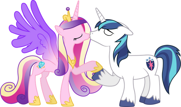 Cadance and Shining Kissing (Normal Version) by 90Sigma