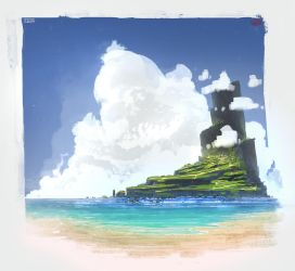 Island by UsamahDraws