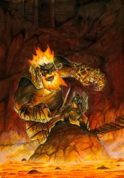 Against the Fire Giant by FStitz