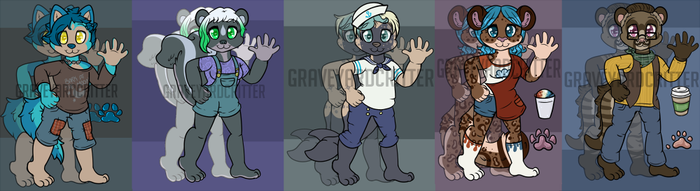 Anthro Animal Adopts - [4/5 Open] by graveyardcritter