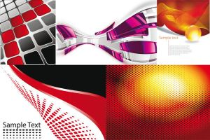 Red grid background vector graphics by vectorbackgrounds
