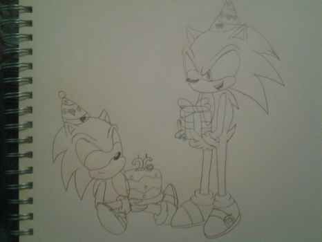 Happy 26th Birthday Sonic! by MewMaster1997