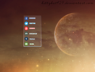 Outgoing Links Rainmeter Skin by kittykat429