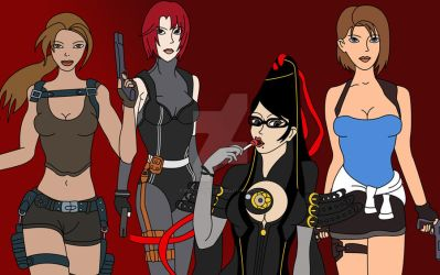 Heroines paly station by BlackLady18