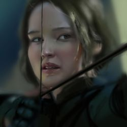 Katniss Everdeen - study portrait by Ketka