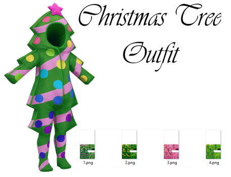 Christmas Tree Outfit Download by LunaSukii