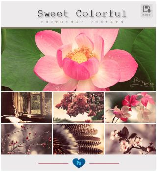 Sweet Colorful PSD+ATN by friabrisa