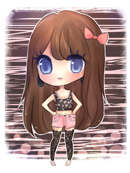 Fern (Black/Pink Outfit) by mochatchi