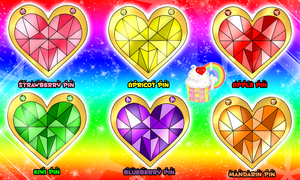 Magical Sweets: Princesses Crystal Candy Pins v3. by Miss-Gravillian1992