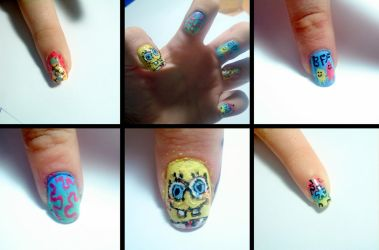 Spongebob nails by ItsMyUsername