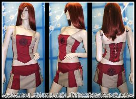Celtic Corset Top N Skirt by RedheadThePirate