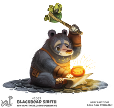 Daily Paint 2057# Blackbear Smith by Cryptid-Creations