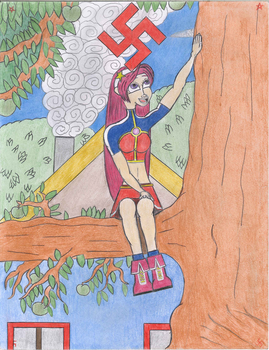 Athena and The Apple Tree by Curse-Of-Ball-Game