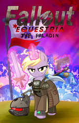 Fallout Equestria The Paladin by X-BlackPearl-X