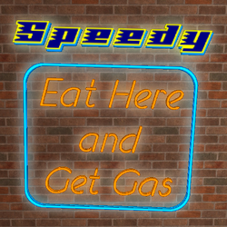 3D Mesh Neon Eat Here Get Gas by 1389AD
