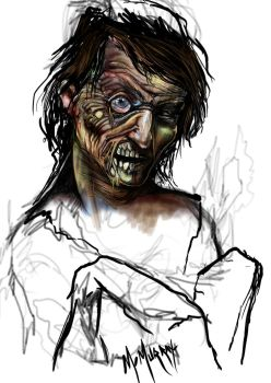 Zombie zombie cartoon by ikkydikky