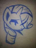 Rarity (graffiti) by Chrzanek97