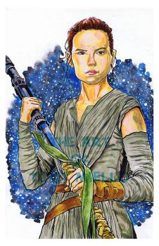 Rey - Star Wars The Force Awakens by TonyMiello