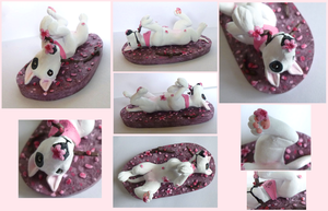 playing bullterrier figure by CadaverCrafts