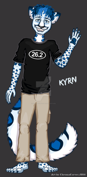 Kyrn, the Running Snow Leopard by ChromaCurves