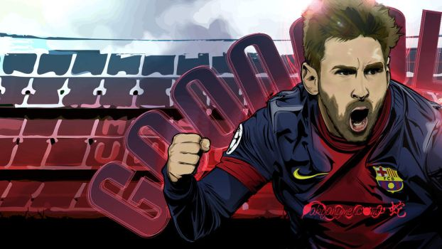 Lionel Messi vector wallpaper by akyanyme