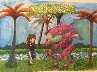 D.Va 'Where the wild things are' by Oni-Mouko
