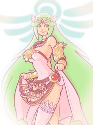 Palutena - Kid Icarus by Ruff-Sketches