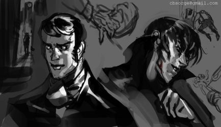 Jekyll n Hyde Sketches 2014 by CBSorgeArtworks