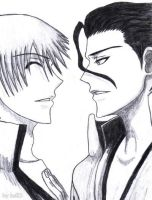 Gin and Aizen by JoanAda