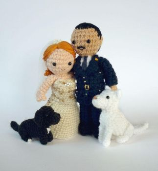 Wedding dolls #1 by LunasCrafts