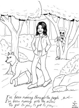Selena Gomez and Marshmello Wolves by FFF66